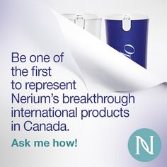 Be one of the first to represent #Nerium breakthrough international products in Canada! Ask me how! http://www.nerium.com/Opportunity.aspx?ID=agelessperfection