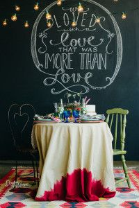 BEAUTIFUL VALENTINES TABLE AND CHALKBOARD