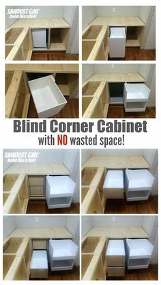 Blind corner cabinet with NO wasted space! | Sawdust Girl | Bloglovin'