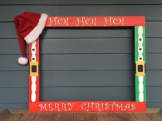 Photo Booth Frame Christmas, Christmas Photobooth by PalletCreatives