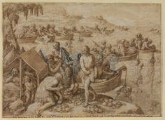 Pearl Diving by Johannes Stradanus (16th century)
