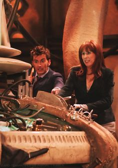 Doctor letting Donna do a little piloting.