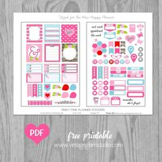 """Happy Midweek! Today, I am releasing another """"freebie"""" printable that I designed with """"planner stickers"""" that will fit the Mini Happy Planner. This is such a great, portable planner size. It is very s"""