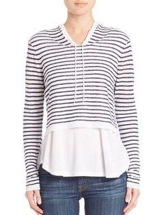 GENERATION LOVE Lindsay Striped Hoodie. #generationlove #cloth #hoodie