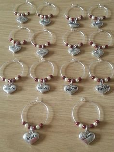 wedding wine glass charms - The Supermums Craft Fair
