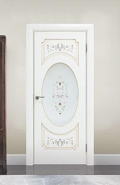 Межкомнатная дверь «Тоскана». Отделка «нежно-белая эмаль патина» #дверирулес…