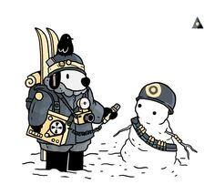 sportdhiver:  TUNDRA CORPS - Special Correspondent and Snowperson - O04  A new week brings some new guys for sport d'hiver. I'll start getting back into doing dailies this week, my hand/wrist is mostly better and i think it was good to take some time away from comics for a little while to refresh my mind as well as my body.