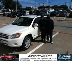 #HappyAnniversary to Jimmy James on your 2008 #Toyota #Rav4 from Nick Searcy at Mazda of Mesquite!