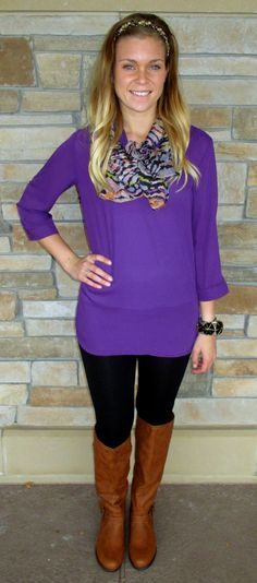We love this purple tunic!