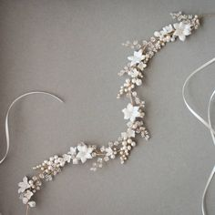 """""""It's all about the details, and this bridal headpiece sure doesn't disappoint #bridalheadpiece #weddinghair #percyhandmade #headband #handmade #custom…"""""""