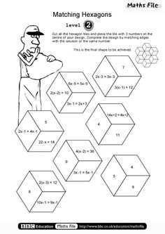 BBC Education-Maths File-Print Off-Matching Hexagons Level 2