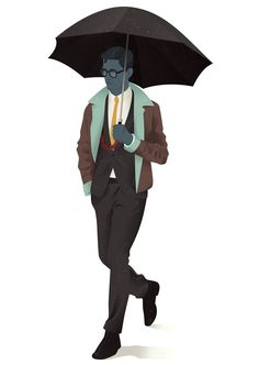It's Nice That : Jack Hughes' scotch sipping, cigarette smoking illustrated dandies are an absolute joy Creative Illustration, Graphic Design Illustration, Illustration Art, Character Illustration, Graphic Art, Scotch Image, Umbrella Man, Its Nice That, Freelance Illustrator