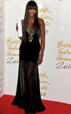 Naomi Campbell British Fashion Awards 2010 Alexander Mcqueen dress