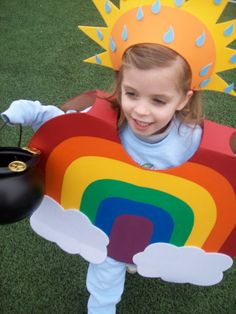 Rainbow with a Pot of Gold Costume by BabytoSOBig on Etsy, $45.00