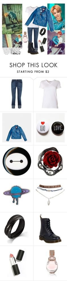 """GET THE LOOK - BTS - JIMIN (#2)"" by ish-fish ❤ liked on Polyvore featuring Current/Elliott, T By Alexander Wang, Coach, Disney, Wet Seal, Dr. Martens, Sigma Beauty and GUESS"