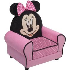 Disney Minnie Mouse Figural Upholstered Chair, Pink