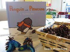 P is for penguins and pinecones, such cute activities for preschool and kindergarten! Love the book! Preschool Literacy, Preschool Books, Preschool Lessons, Preschool Crafts, Teach Preschool, Kindergarten, Preschool Ideas, Letter P Activities, Teaching Activities