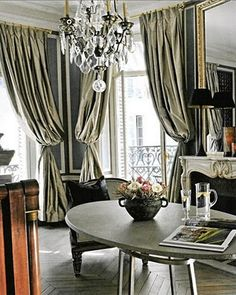Interior Designer: Isabel López-Quesada & A Country House in Segovia, Spain :: This Is Glamorous Decor, Room, House, Interior, Home, Paris Apartments, Curtains, House Interior, Interior Design