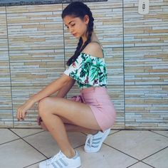 Adidas Superstar, White Shorts, Sneakers, Women, Fashion, Outfit, Tennis, Moda, Slippers