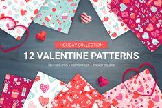 12 Valentine Seamless Patterns by miumiu on Creative Market