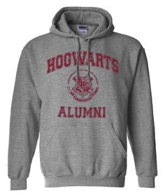 Hogwarts Alumni Harry Potter Parody Unisex Hoodie Hooded Sweatshirt Sweat shirt. $32.00, via Etsy.