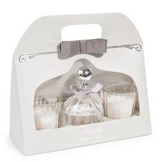 Coffret diffuseur + 2 bougies senteur vanille blanches | Maisons du Monde