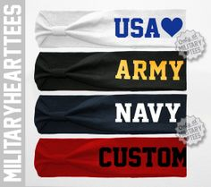Custom Headband Military Themed for Army, Navy, Air Force, Coast Guard, Marines wife girlfriend fiance sister Proud Navy Girlfriend, Navy Sister, Navy Wife, Marines Girlfriend, Navy Man, Usmc Clothing, Army Clothes, Navy Quotes, Airforce Wife