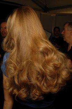 Billowy long ginger hair....so feminine and pretty!