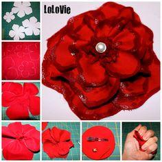 LoLovie: Large Fabric Flower