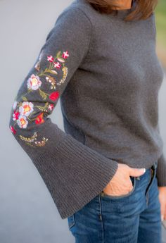 23 New Ideas Crochet Top Outfit Winter Stitch Fix Flower Fashion, Diy Fashion, Fashion Ideas, No Sew Refashion, Crochet Top Outfit, Sewing Elastic, Make Your Own Clothes, Fabric Tape, Embroidered Clothes