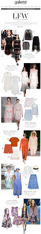 newsletter, gallerist, fashion, layout, semanas de moda internacionais, tendências, lfw,