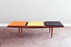 mid century slat coffee table Collection-George Nelson Inspired Mid Century Modern Slatted by ljindustries Furniture Pin Love Vintage, Vintage Bench, Vintage Modern, Vintage Furniture, Vintage Cushions, Mid Century Modern Design, Mid Century Modern Furniture, Bauhaus, Danish Modern