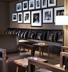 BVLGARI Hotel by Antonio Citterio Patricia Viel and Partners, London hotels and restaurants Bulgari Hotel London, Bvlgari Hotel, London Hotels, Hotel Lounge, Bar Lounge, Cigar Shops, Cigar Bar, Cigar Boxes, Restaurants