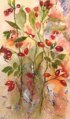 Autumn Hedgerow. Grasses, Silk Painting, Fused Glass, Seeds, Paintings, Autumn, Rose, Inspiration, Art