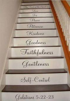 Galatians 5:22-23 Stair Riser ...