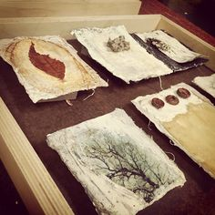 Hmmmm. Brainstorming how I'll display these little nature pages I've been making. | by bgmills Collages, Mixed Media Collage, Collage Art, Classe D'art, Tea Bag Art, Wax Art, Mixed Media Photography, Encaustic Painting, Handmade Books