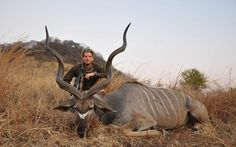 Eric Trump is pictured with an animal he killed on a visit to Zimbabwe.