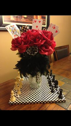 Queen of Hearts Centerpiece by DNAverack on Etsy, $25.00