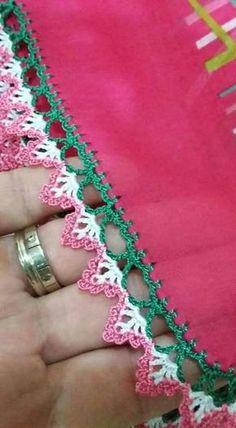 This Pin was discovered by HUZ Crochet Boarders, Crochet Edging Patterns, Crochet Lace Edging, Lace Patterns, Crochet Trim, Crochet Designs, Crochet Doilies, Crochet Yarn, Easy Crochet