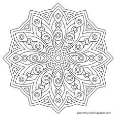 Icarus mandala. Coloring page at geometrycoloringpages.com