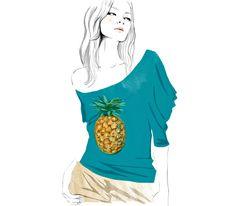 Le t-shirt Ananas de Stella #McCartney - collection Chloé printemps-été 2001