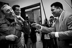 Fidel Castro, Teofilo Stevenson et Muhammad Ali. 1996.