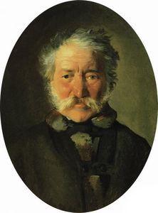 Nikolai Ge - Porträt von Piotr Zabela