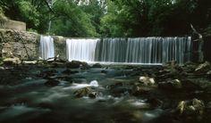 Union Grove Lake Waterfall -Tucked away in Tama County, between Marshalltown and Waterloo, Union Grove Lake…