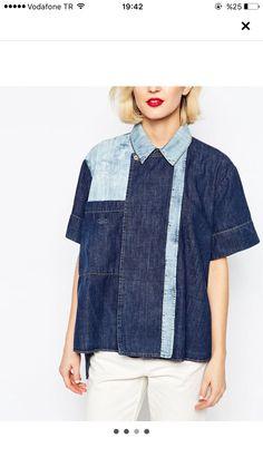 Vivienne Westwood denim block shirting Denim Ideas, Denim Trends, Style Casual, Casual Tops, Redone Jeans, Recycled Denim, Denim Fabric, Denim Fashion, Jeans Style