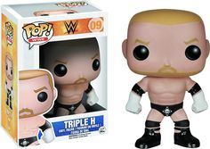 "Triple H has won a massive 23 WWE championships and is the newest semi retired wrestler in Funko's WWE Pop! line to be released! Hunter Hearst Helmsley is the current Executive Vice President (Talent/Live Events/Creative) of WWE and looks awesome as this 3.75"" Pop! Vinyl figure - a must have for all WWE fans. Order yours today! Proudly brought to you by Popcultcha, Australia's largest and most comprehensive Pop! Vinyl on-line store. Click here to see more of our great Pops!"