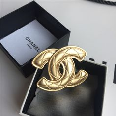 Chanel woman brooch