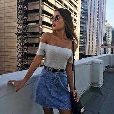 10+ Denim Mini Skirts Outfit Ideas – takeupstyle.com