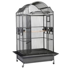 A beautiful cage for Parrots to stretch their wings in. #cage #parrotcage Canadian Contests, King Cage, Bird Cages, Parrot Cages, Metal Grill, Front Door Locks, European Fashion, European Style, Steel Cage