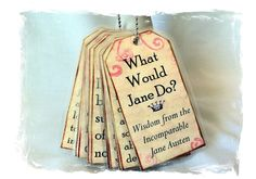 Jane Austen Necklace or Bookmarks or Christmas by NinjaKittyStudio Do It Yourself Projects, Make It Yourself, Jane Austen Quotes, Book Jewelry, Gold Ink, Vintage Books, Retro Vintage, Handmade Design, Swirls